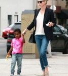 Exclusive... Charlize Theron & Son Jackson Have A Busy Day In Los Angeles