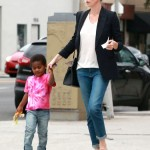 Charlize Theron Spends The Day With Jackson