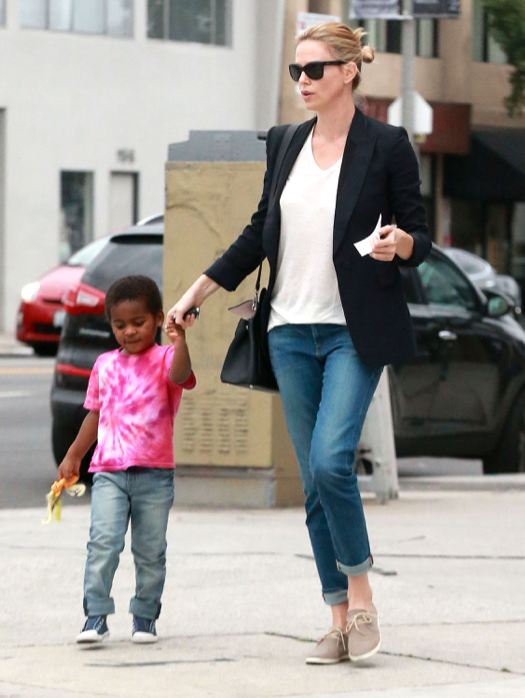 Exclusive Charlize Theron Son Jackson Have A Busy Day In Los