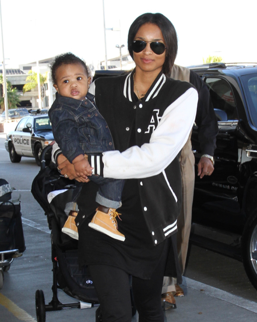 Ciara Jets Off With Son Future