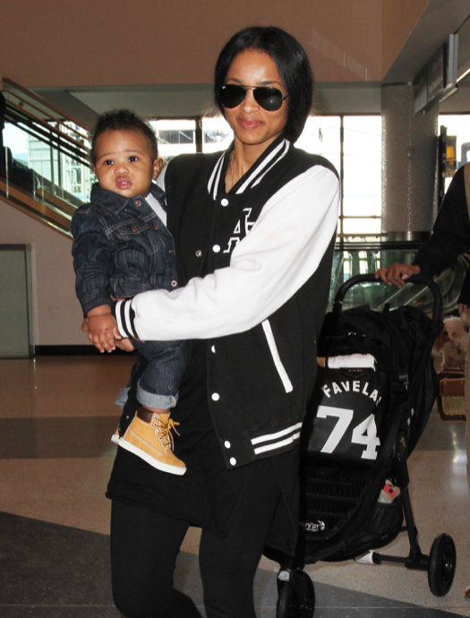 Ciara Catches A Flight At Lax With Her Son Celeb Baby