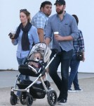 Exclusive... Emily Blunt & John Krasinski Take Hazel Out For Lunch And A Stroll