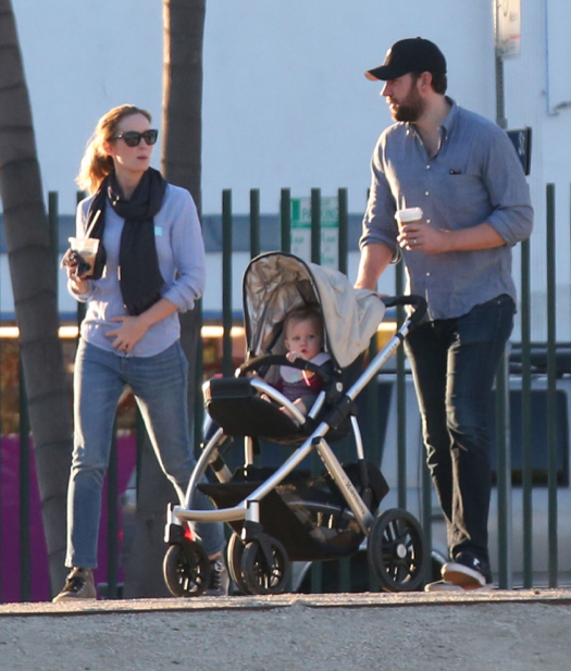 Emily Blunt & John Krasinski Enjoy a Family Day