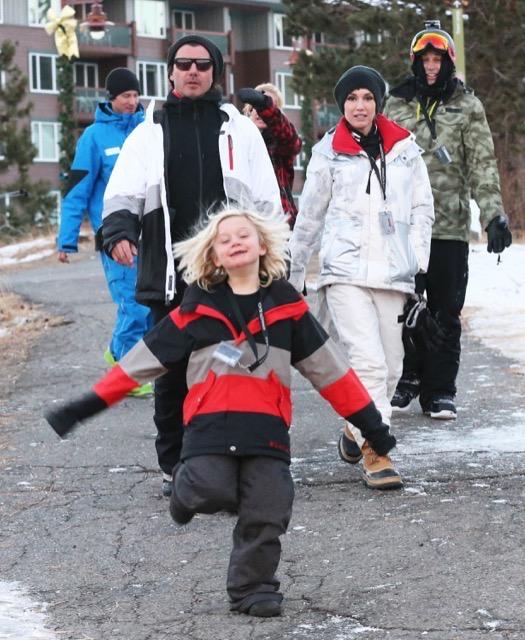 Gwen Stefani & Family Hit the Slopes