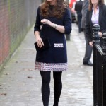 Pregnant Kate Middleton Makes Charity Visit to Primary School
