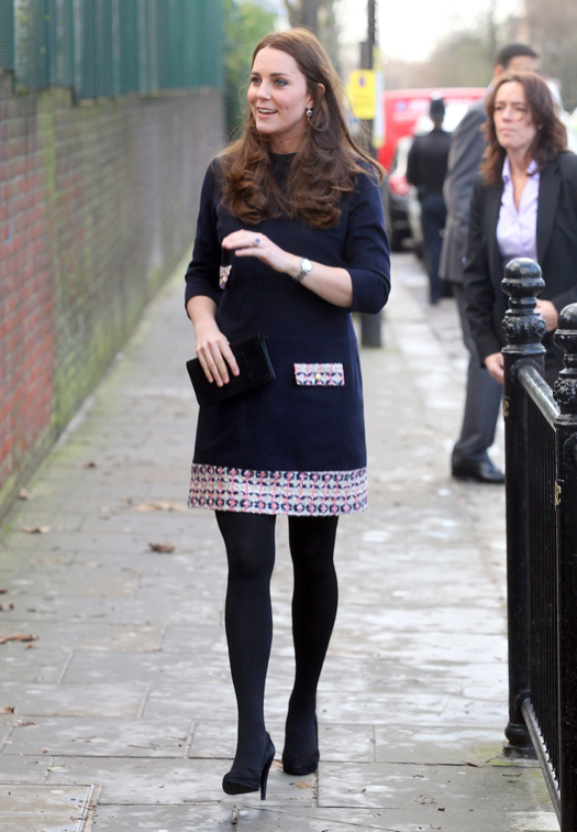 Pregnant Kate Middleton Visits Barlby Primary School