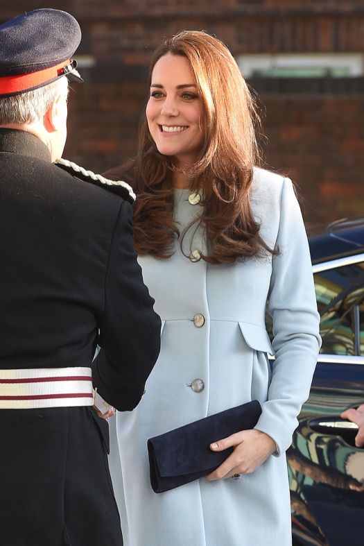 Pregnant Kate Middleton Looks Radiant In Baby Blue