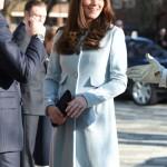 Pregnant Kate Middleton Looks Radiant In Baby Blue