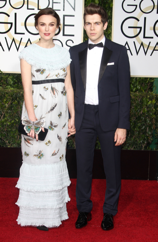 Jennifer Aniston and Justin Theroux at The 72nd Annual Golden Globe Awards in LA