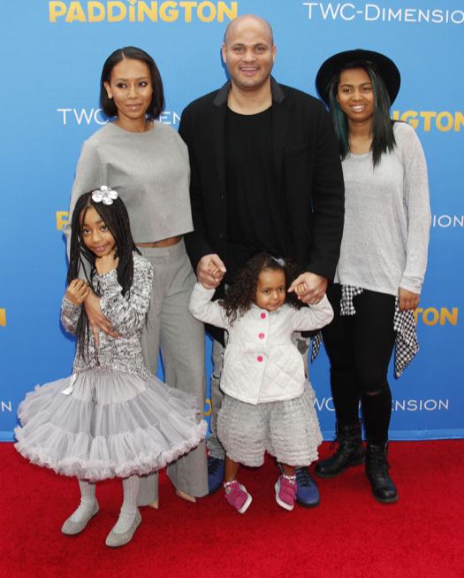 Melanie Brown & Family Attend the Paddington Premiere