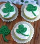 St. Patrick's Day Shamrock Cupcakes