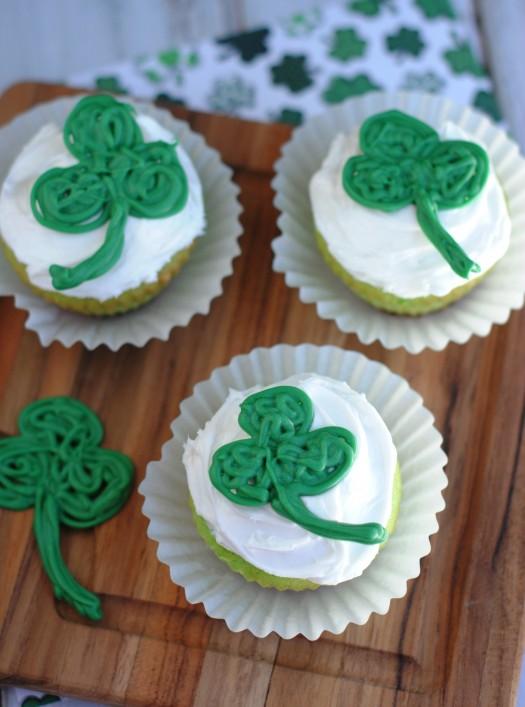 St. Patrick's Day Shamrock Cupcakes