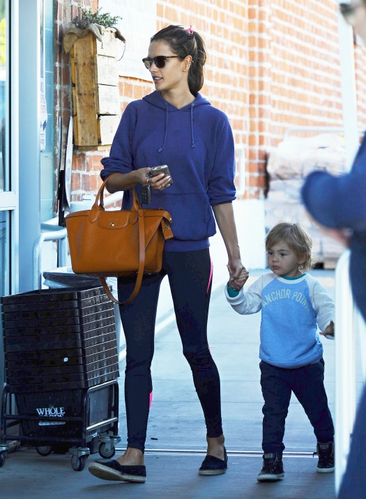 Alessandra Ambrosio Picks Up Groceries With Noah