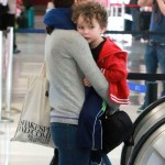 Natalie Portman and Her Adorable Son Aleph Catch A Plane At LAX