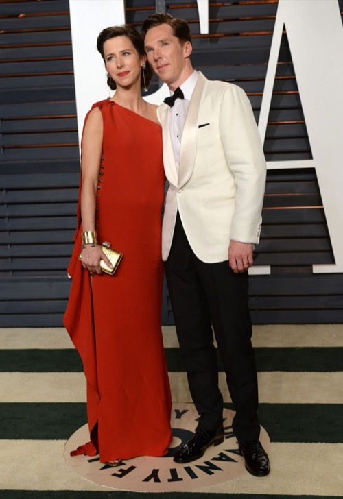 Benedict Cumberbatch and Pregnant Sophie Hunter's Cumber-Bundle On Display At The Oscars