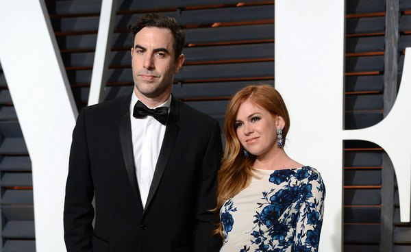 Isla Fisher's Vanity Fair's Oscars 2015 Afterparty Last Trimester Pregnancy Style