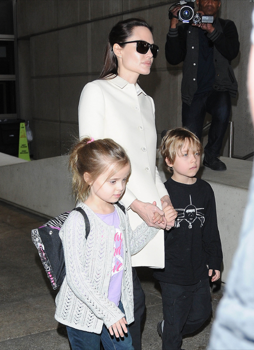 Angelina Jolie Returns To Los Angeles