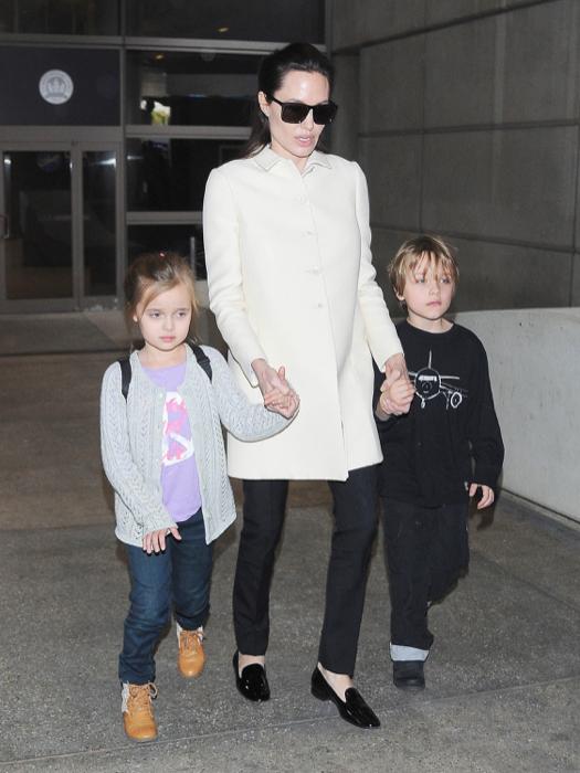 Angelina Jolie Returns To Los Angeles