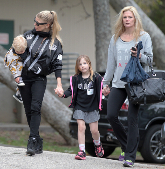 Fergie Spends The Day With Axl