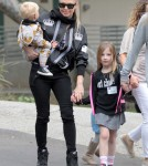 Fergie Steps Out With Axl & Friends