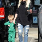 Hilary Duff & Luca Stop For Coffee