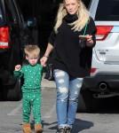 Hilary Duff & Son Luca Stop By Starbucks