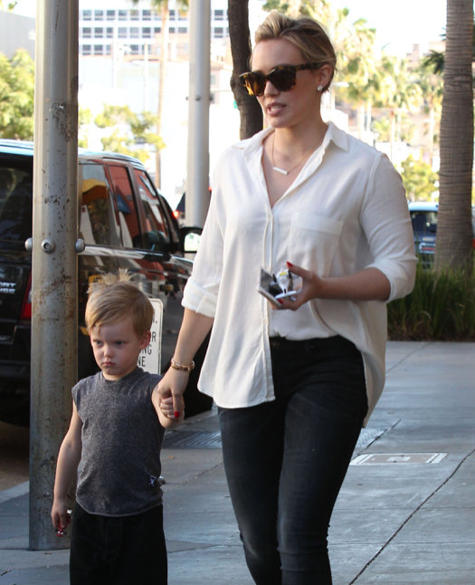 Hilary Duff Goes Toy Shopping With Luca
