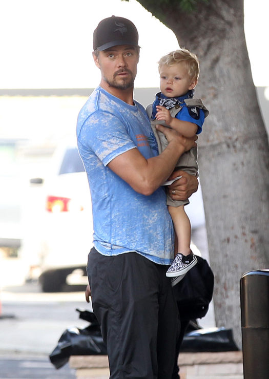 Josh Duhamel Takes His Son To Lunch