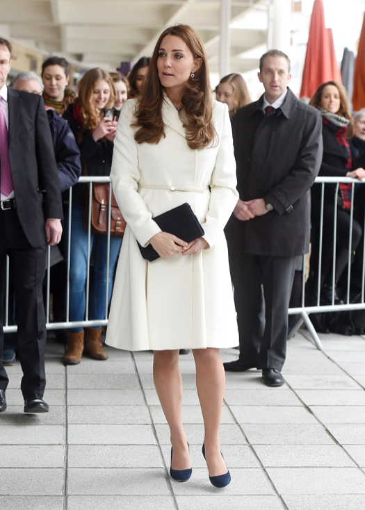 Kate Middleton Stays Maternity Stylish in a Max Mara Studio Coat