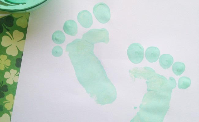 Leprechaun Foot Prints Craft For St. Patrick's Day