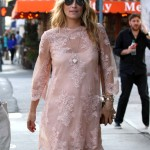 Pregnant Molly Sims Stops for Breakfast