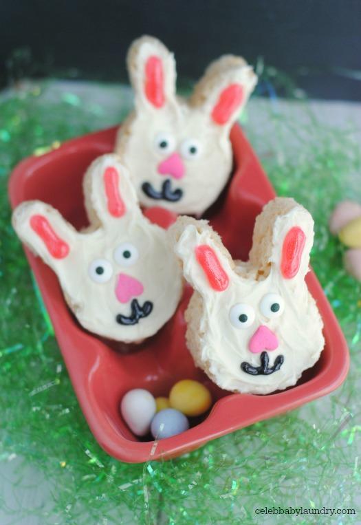 Homemade Rice Krispie Treat Easter Bunnies