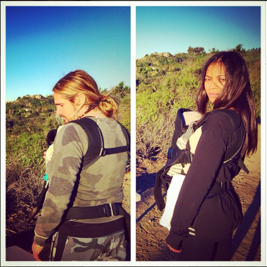Zoe Saldana Takes a Hike With the Whole Family