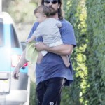 Christian Bale Steps out With 6 Month Old Son – Baby's Name Still a Mystery!