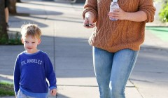 Hilary Duff Takes Luca To A Play Date