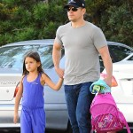 Matt Damon's Birthday Party Date with Daughter, Gia (PHOTOS)