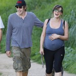 Milla Jovovich Pregnancy Workout – Hiking With Her Family (PHOTOS)