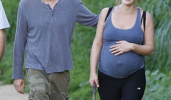 Pregnant Milla Jovovich Enjoys A Hike With Her Husband