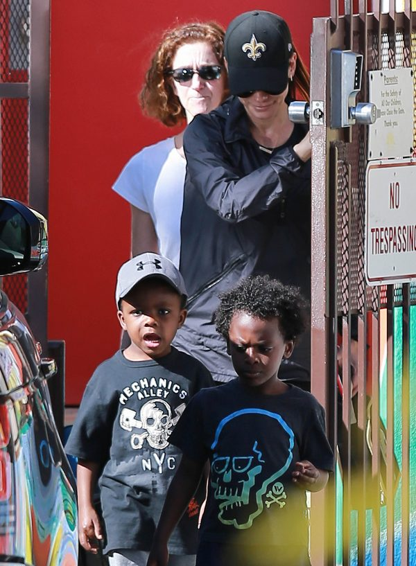 Sandra Bullock Out And About With Her Son Celeb Baby Laundry
