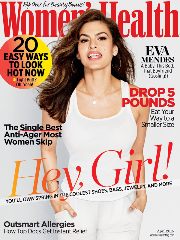 Womens Health Magazine April 2015 Cover - Eva Mendes