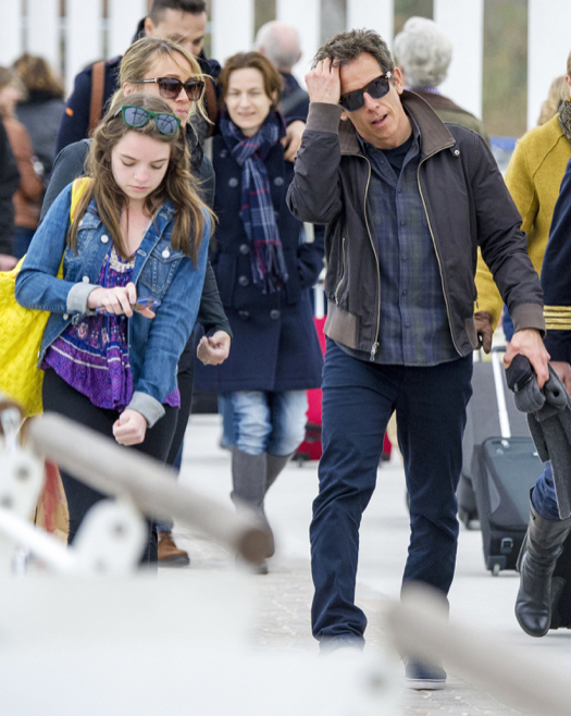 Ben Stiller & Family Vacation in Venice
