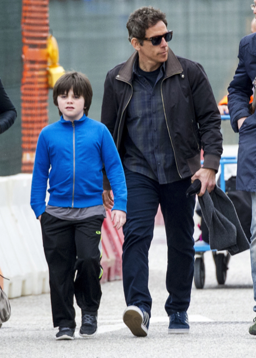 Photo of Ben Stiller & his  Son  Quinlin Stiller