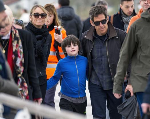 Exclusive... Ben Stiller & Family Arriving In Venice ...