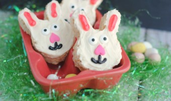 Homemade Rice Krispie Treat Easter Bunnies