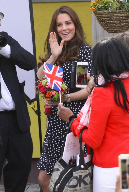 Pregnant Kate Middleton Visits Brook Hill Children's Centre