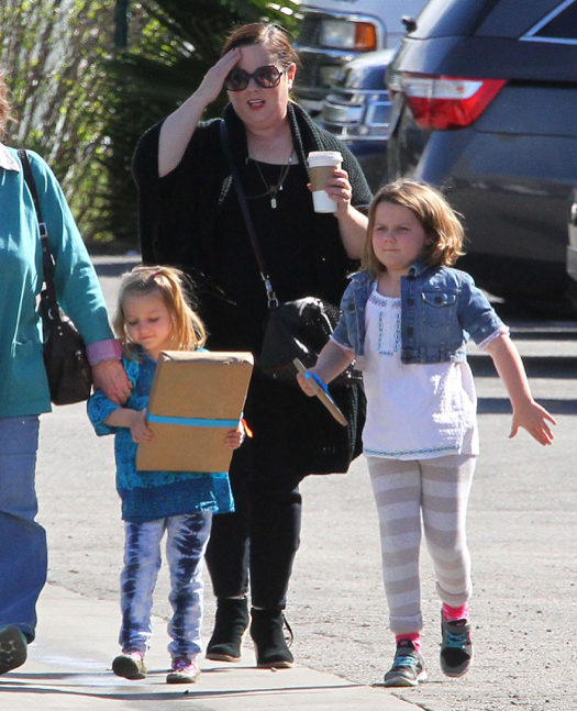 Exclusive... Melissa McCarthy Takes Her Daughters To A Birthday Party