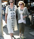 Pregnant Milla Jovovich Lunches With Her Mom