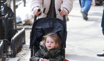 Sienna Miller Takes a Stroll With Marlowe