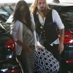 Zoe Saldana & Marco Perego Take Their Twins For a Checkup