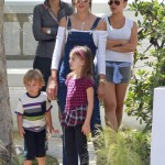 Alessandra Ambrosio Spends Saturday With her Children